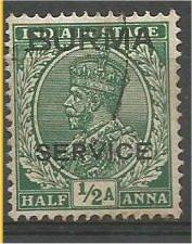 BURMA, 1937, used 1/2a, OFFICIAL Overprinted, Scott O2