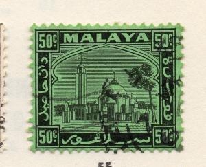Malaya Negri Sembilan 1930s Mosque Early Issue Fine Used 50c. 162664