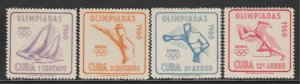 ​1960 Cuba Stamps 17th Olympic Games Roma Complete Set MNH