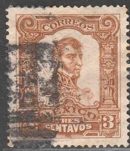 MEXICO 312, 3cts INDEPENDENCE CENTENNIAL 1910 COMMEM USED. VF (219)