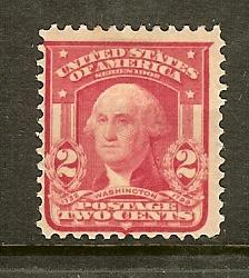 Scott #319, 2c Washington, Fine Centering, Type I, MH