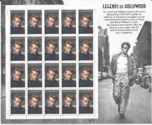 US Mint Sheet #3082, James Dean, MNH*-