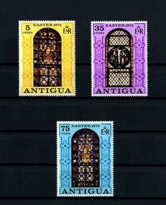 ANTIGUA - 1973 - EASTER - STAINED GLASS - ST JOHN CATHEDRAL - MINT - MNH SET!