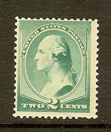 Scott #213, 2c Washington, Fine Centering, MH