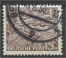 BERLIN, 1949, used 15pf  Airport Scott 9N48