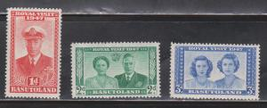 BASUTOLAND Scott # 35-7 MH - 1947 Royal Visit Part Set