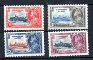 St Christopher & Nevis 1935 Silver Jubilee LHM set #61-64 WS13147