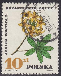 Poland 1516 Azalea Pontica 10.00zł 1967
