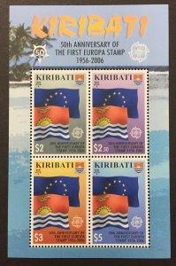 Kirbati 2006 #887a S/S, Europa 50th Anniversary, MNH.