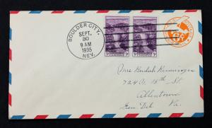 US Stamp 774 FDC Boulder Dam 3c (September 30, 1935) on UC3 Combo Cover