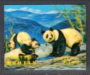 Bhutan 116G Pandas MNH VF