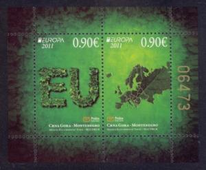 Montenegro Sc# 278 MNH Europa 2011 / Forests (S/S)