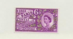 Great Britain Scott #392, Mint Never Hinged MNH, Centenary of Paris Postal Co...