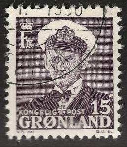 Greenland 1950 Sc #31a Used F-VF Cat $1.60...Quality Bargain!