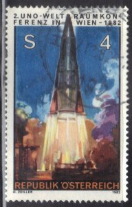 AUSTRIA  SC #1219   4s  1982  ROCKET LIFTING OFF   SEE SCAN
