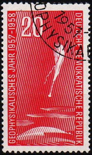 Germany(DDR).1957 20pf S.G.E343 Fine Used