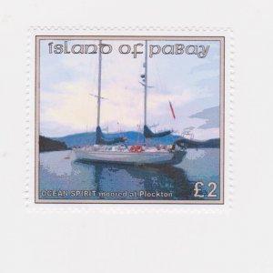 PABAY, British Local - 2016 - Gordonston Boat - Perf MNH Single Stamp