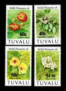 Tuvalu # 625-628 Mint NH MNH Wild Flowers!