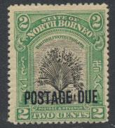 North Borneo SG D52 MH 2c  Opt Postage Due  see details and scans