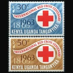 K.U.T. 1963 - Scott# 142-3 Red Cross Cent. Set of 2 NH
