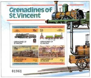 St. Vincent Grenadines 345a 1984-87 Trains S.S.LOW MNH VF