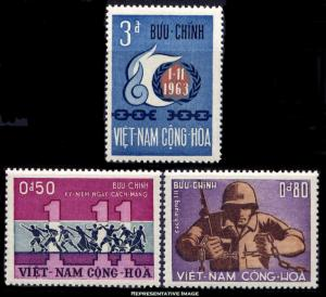 Vietnam Scott 244-246 Mint never hinged.
