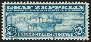 MOMEN: US STAMPS #C15 USED PF + PSE GRADED CERT XF-SUP 95 LOT #70879