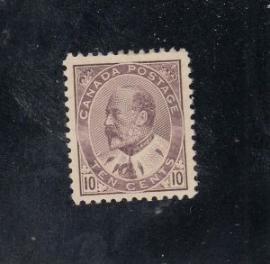 CANADA # 93 VF-MH KEV11 10cts BROWN LILAC CAT VALUE $800