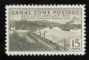 CANAL ZONE 131 15 cents 25th Anniversary Stamp Mint OG NH EGRADED XF 90 XXF