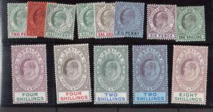 Gibraltar #49 - #63 VF Mint Chalky Paper Set