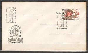 Uruguay, Scott cat. C333. Scout Baden Powell issue on a First day cover.