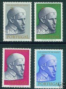 PORTUGAL  Scott 909-12  MNH**1963 St Vincent de Paul CV$8.55