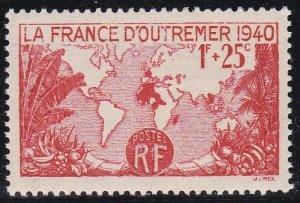 France Sc #B96 Mint Hinged; Mi #466