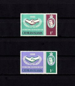 CAYMAN IS - 1965 - QE II - ICY - COOPERATION YEAR - MINT - MNH - SET!