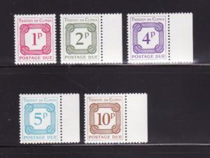 Tristan Da Cunha J6-J10 Set MNH Postage Due, Numerals (B)