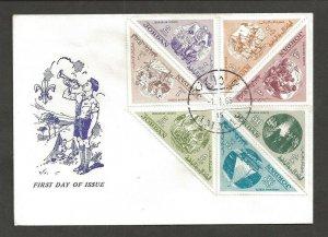 1965 Jordan Boy Scout triangles FDC