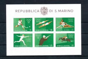[46752] San Marino 1960 Olympic games Rome Swimming Fencing Imperf. MNH Sheet