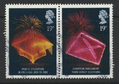 Great Britain SG 1432a  ( SG 1432 & 1433 ) Used   - Anniversaries