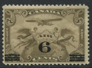 Canada - Scott C3 - Air Mail Overprint - 1932 - MLH - Single 6c Stamp