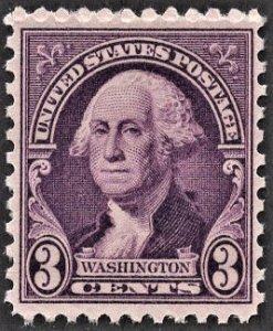 US 720 MNH VF 3 Cent Washington Deep Violet