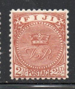 Fiji Sc 57 1891 2 1./2d red brown Crown stamp mint
