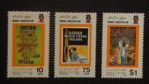 Brunei 359-61. 1987 Anti-Drug Campaign, NH