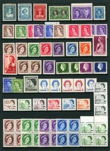 Canada #246 / #468B 1939-1970 Queen Elizabeth Thematic Assortment Mint