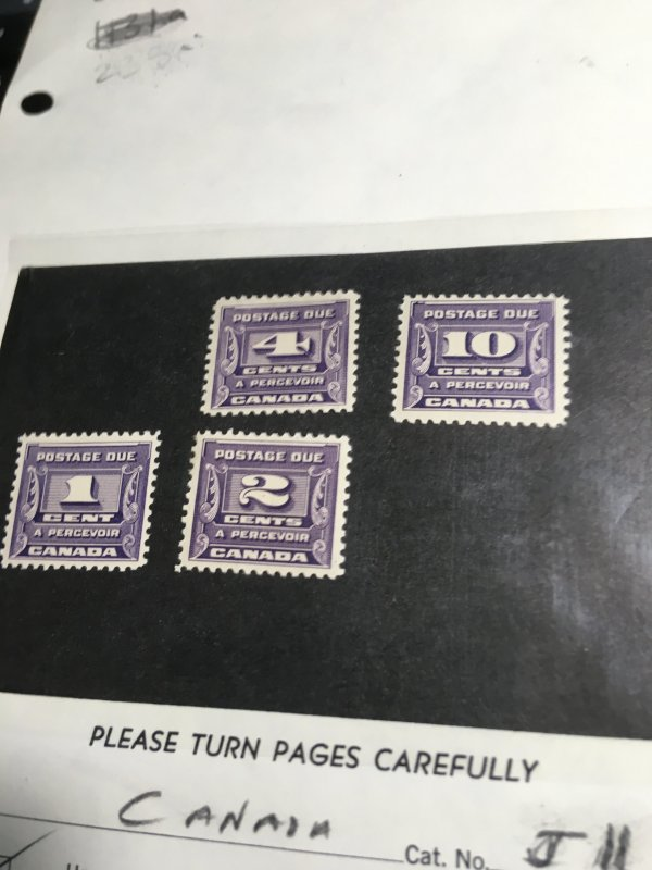 Canada #J11-J14 Mint Fresh & F+-VF NH 1933-34 Postage Dues Complete USC Cat.$160