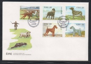 Ireland Sc 567a 1980 Dogs stamp set on FDC