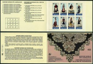 Yugoslavia 1783 ah booklet,MNH.Michel 2159-2166 MH 2. National Costumes 1986.