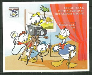 Maldives MNH S/S 2063 Disney's Donald Being Photographed