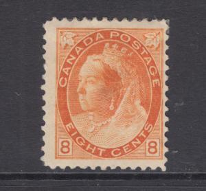 Canada Sc 82 MLH. 1898 8c orange Queen Victoria, tiny thin, F-VF centering