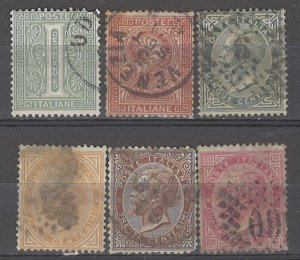 COLLECTION LOT # 5381 ITALY 6STAMPS 1863+ CV+$27