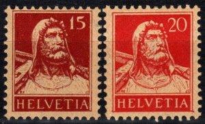 Switzerland #173, 176  MNH CV $5.50  (P34)